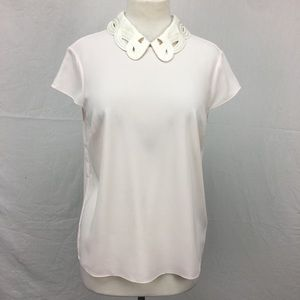 Ted Baker Pink Athilia Embroidered Scallop Collar